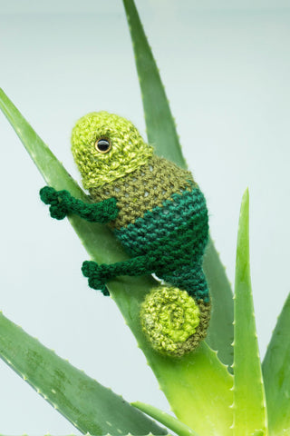Chameleon Lizard plush - Handmade Crochet Stuffed Animal Toy.
