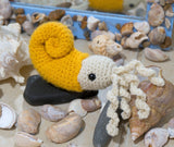 Ammonite fossil pre-historic handmade crochet stuffed toy/decoration.