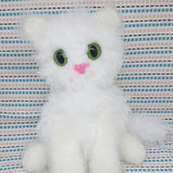 Brown fluffy Persian Cat Plush. Handmade Crochet Stuffed Cuddly Toy.