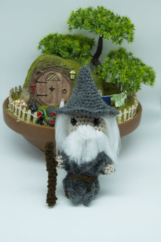 Gandalf , Lord of the Rings Plush - Handmade crochet doll.