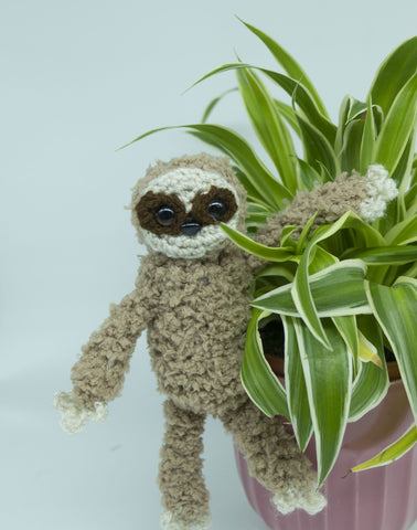 Sloth Plush - Handmade Crochet Stuffed Animal Toy