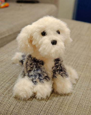 Sheep Dog Plush - Handmade Custom Crochet Stuffed Animal Toy