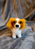 King Charles Spaniel Cavalier Dog Handmade Crochet Plush/Stuffed Toy.