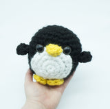 Big Penguin Plush - handmade crochet stuffed animal toy