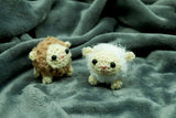 Sheep keyring/keyfob - Handmade Crochet Stuffed Animal