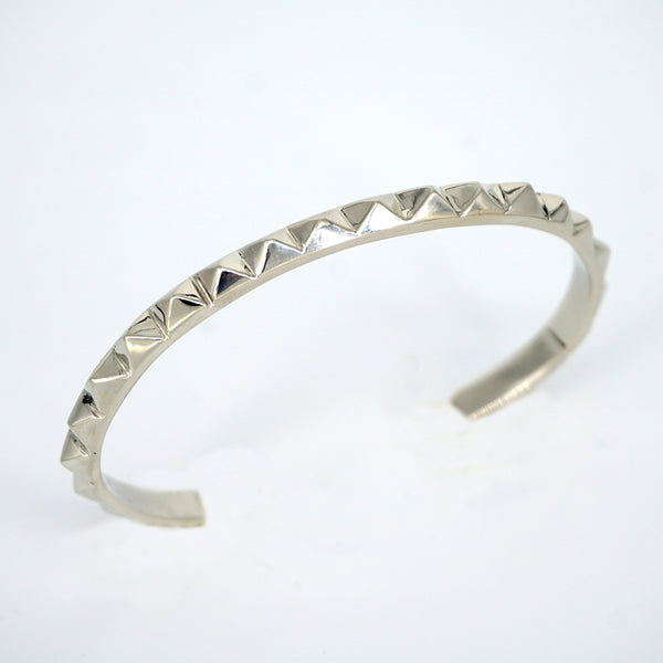 STUDDED CUFF STERLING SILVER