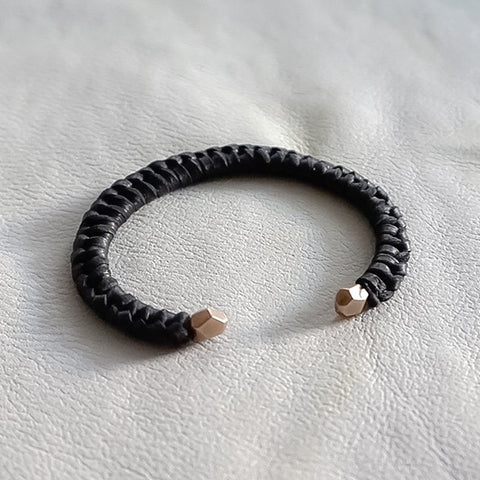 Double Rock Bracelet with leather