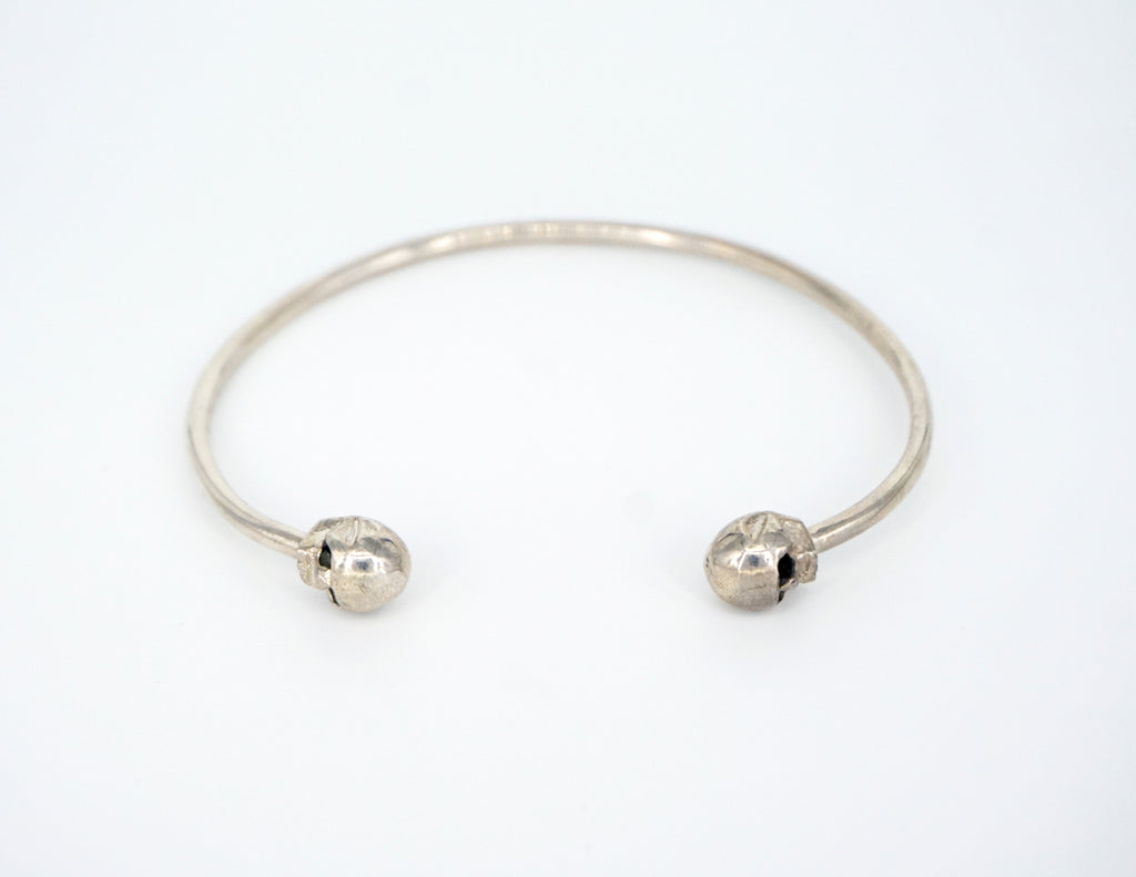 Double Skull Head Bracelet Sterling Silver