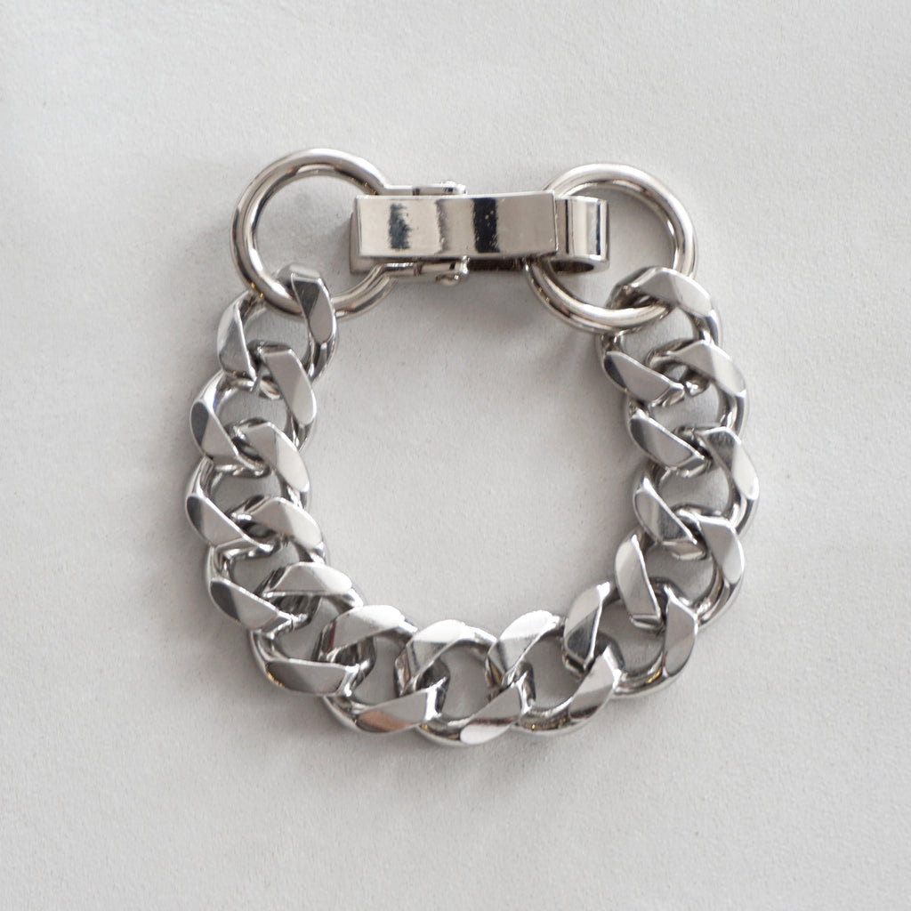 Chain Bracelet No.8 : Shiny Silver Brass