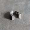 GATE RING - Oxidized Sterling Silver