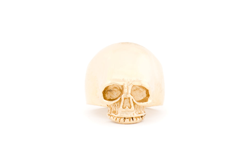 SKULL RING BRASS