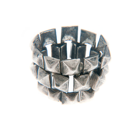 LINKED STUDS RING STERLING SILVER