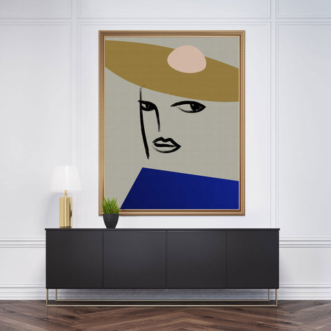 Abstract portrait 3 Poster Print