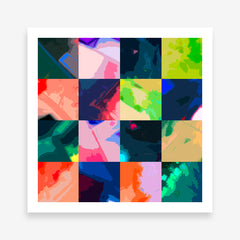 Square poster print by Henry Hu, with colourful abstract digital art collection.