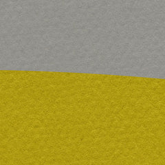 Poster print with yellow sun and black birds, on grey textured paper effect background - closeup