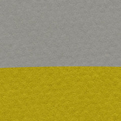 Canvas print with yellow sun and black birds on rope, on grey textured paper effect background - closeup