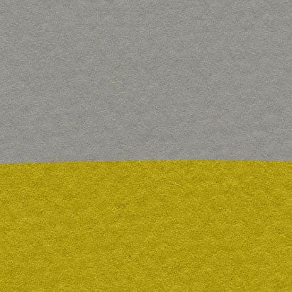 Poster print with yellow sun and black birds on rope, on grey textured paper effect background - closeup