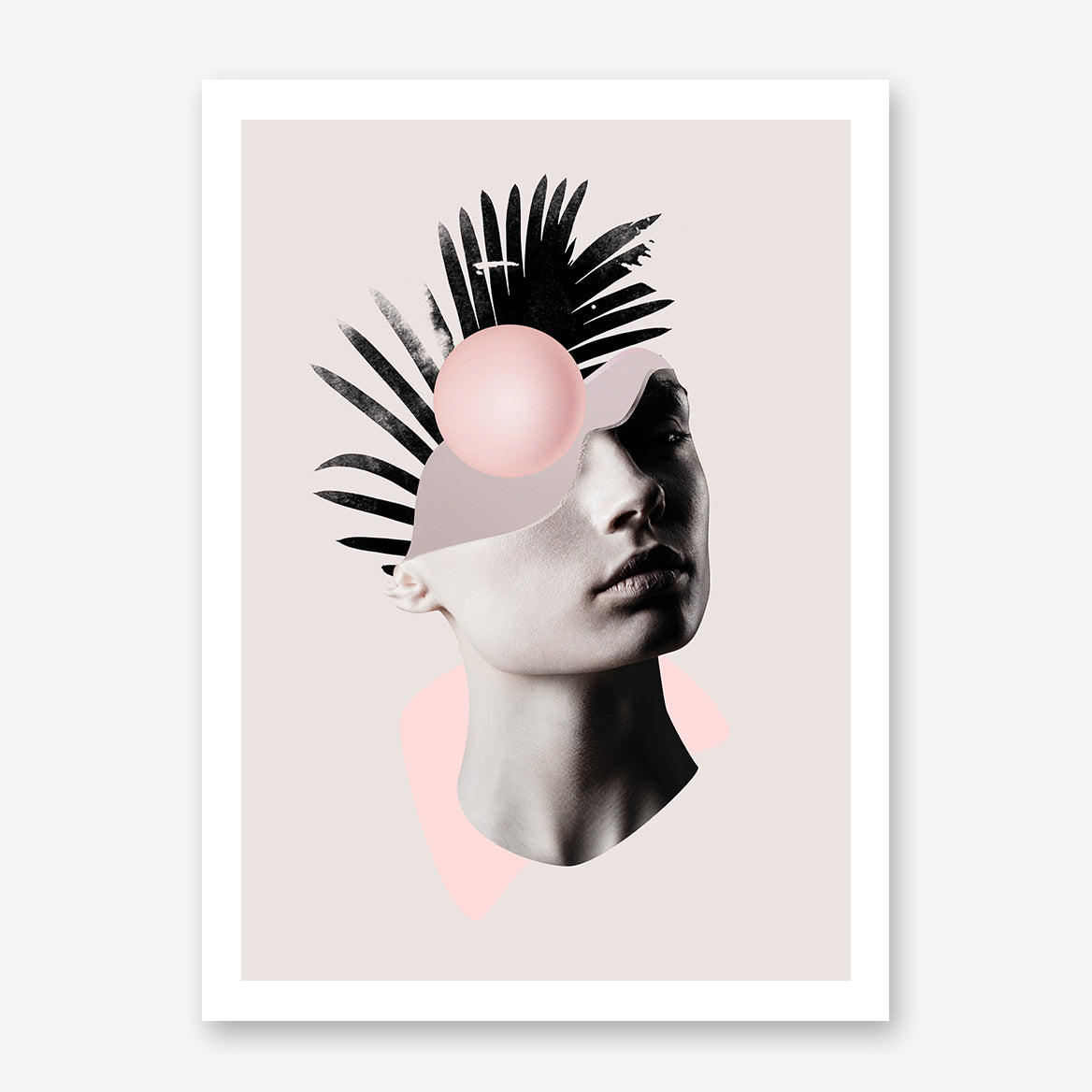 Abstract poster print by Robert Farkas, with a woman's portrait.
