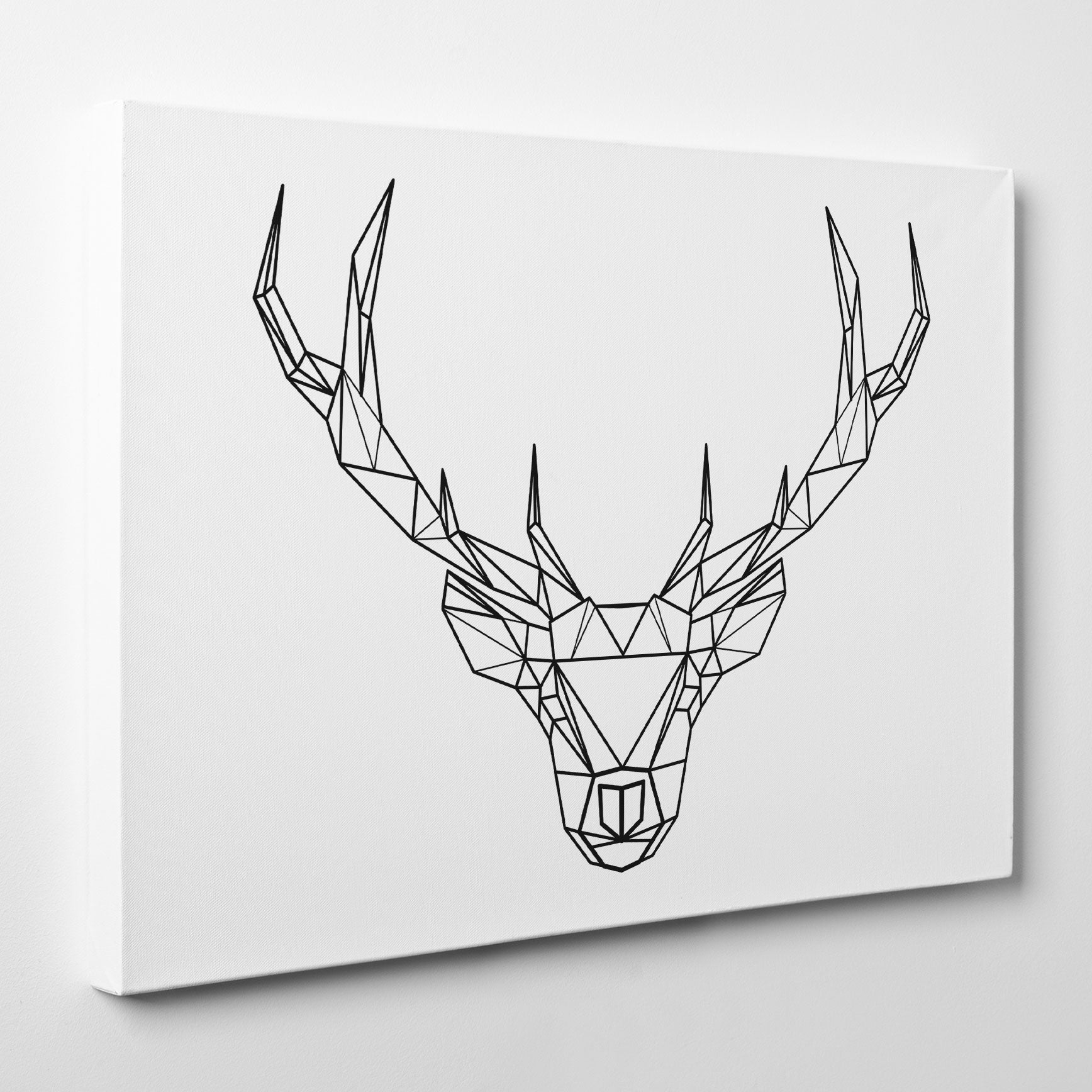 Geometric deer 2 Canvas Print