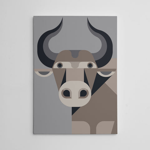 Geometric cow Canvas Print