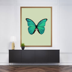 Gorgeous full poster print with a green butterfly and background.