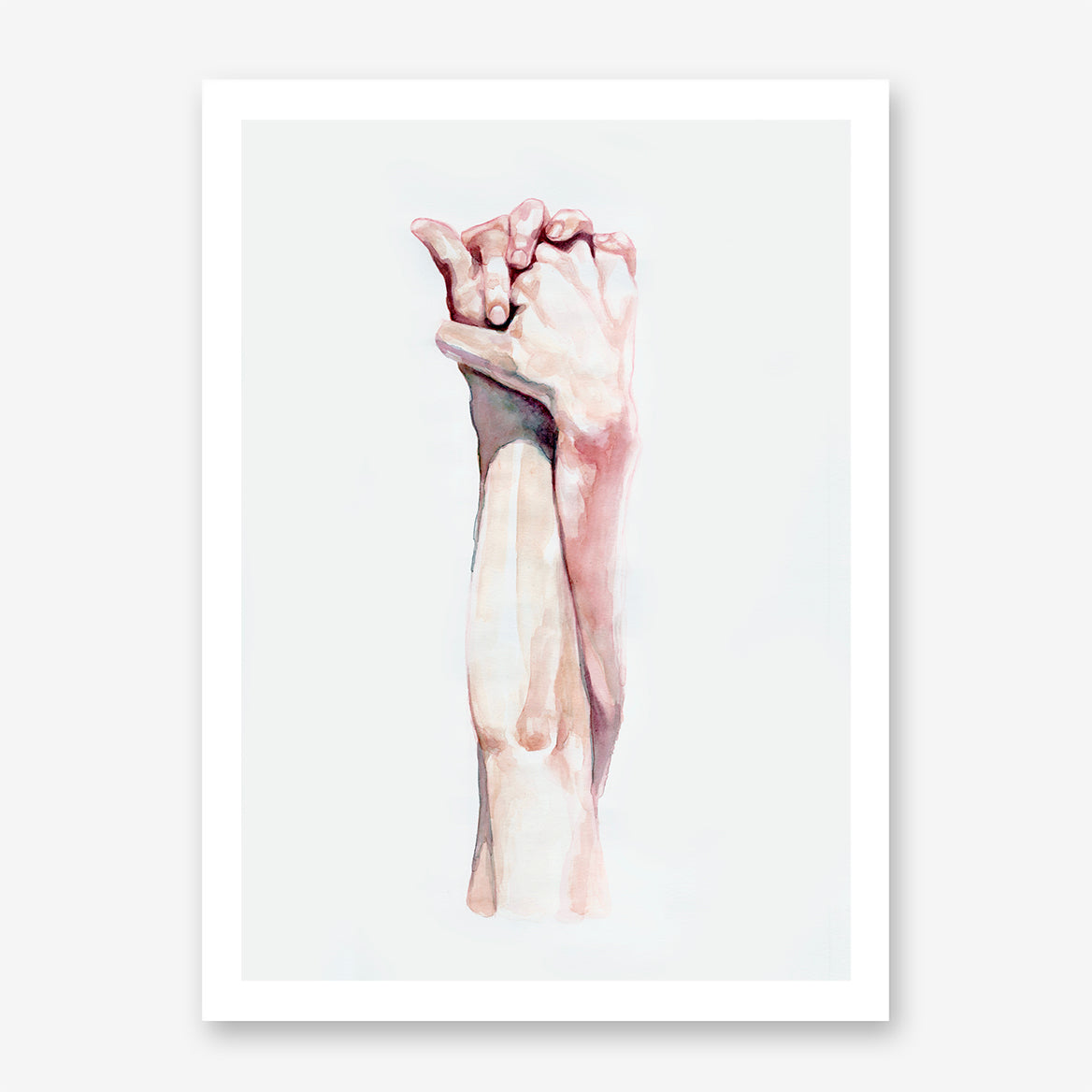Holding hands minimalist poster print, by Shopia Novosel