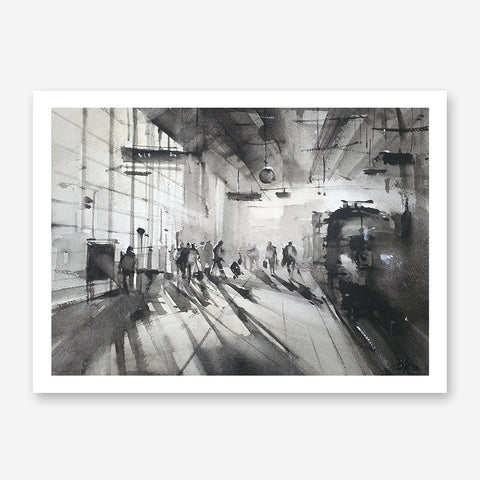 Train arrives Poster Print