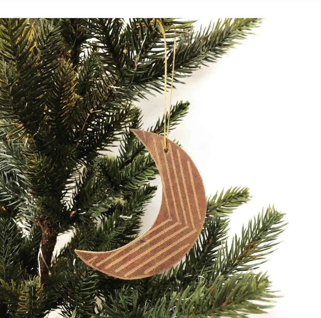 Crescent Moon LEATHER ORNAMENT