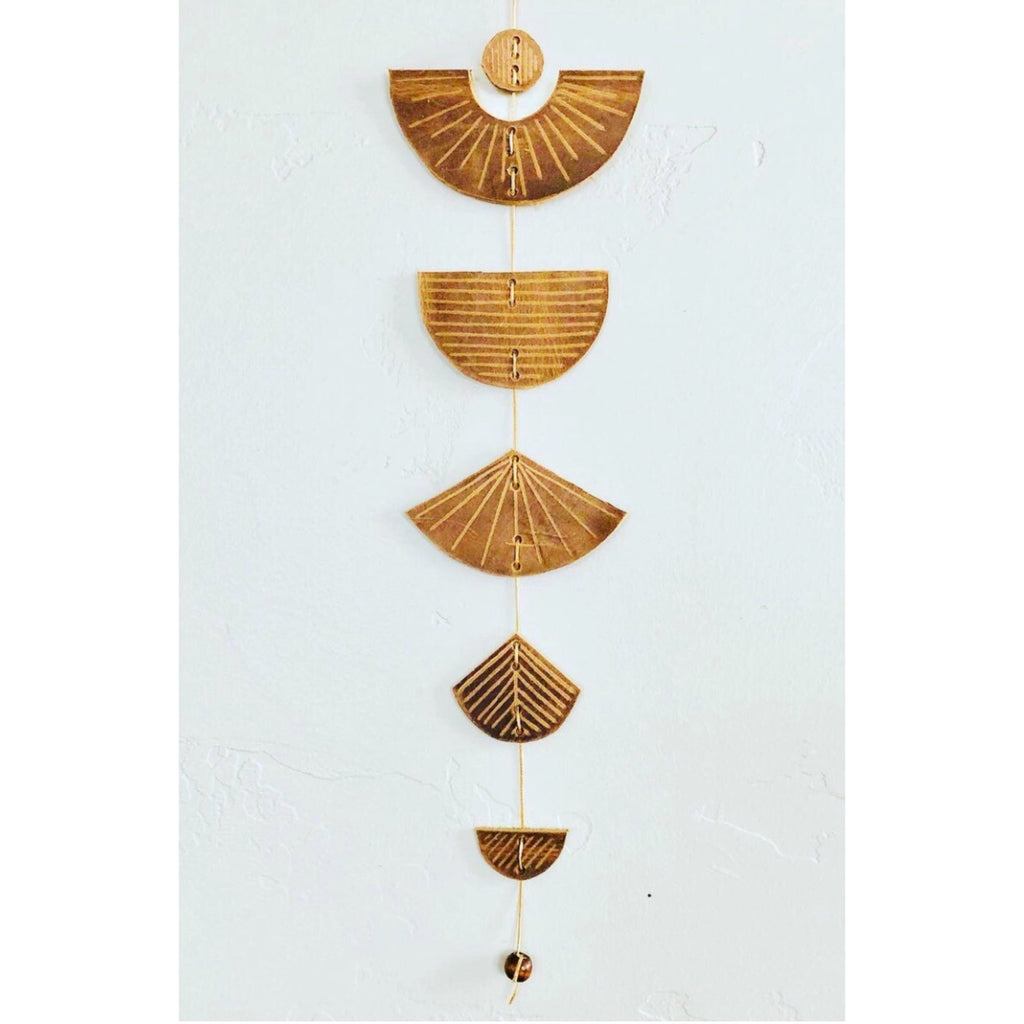 New Horizons LEATHER Wall Hanging