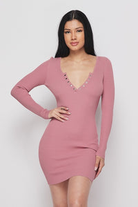 ALISA KNIT DRESS-HOEA22034