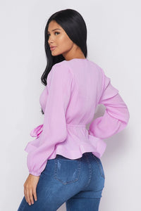 RACHAEL LONG SLEEVE TOP HOEA41799