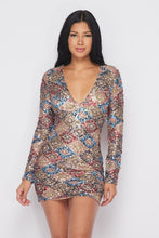 STUNNA SEQUIN MINI DRESS -HOEA0454
