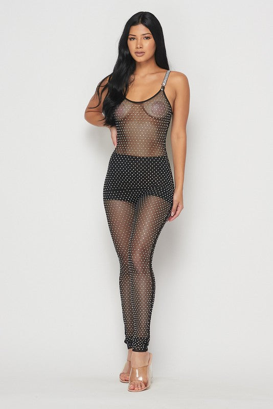 Show Out See-Through JUMPSUIT - HOEA0489