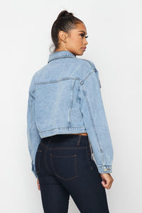 ROSALIE FRINGE DENIM JACKET- HOEA7083