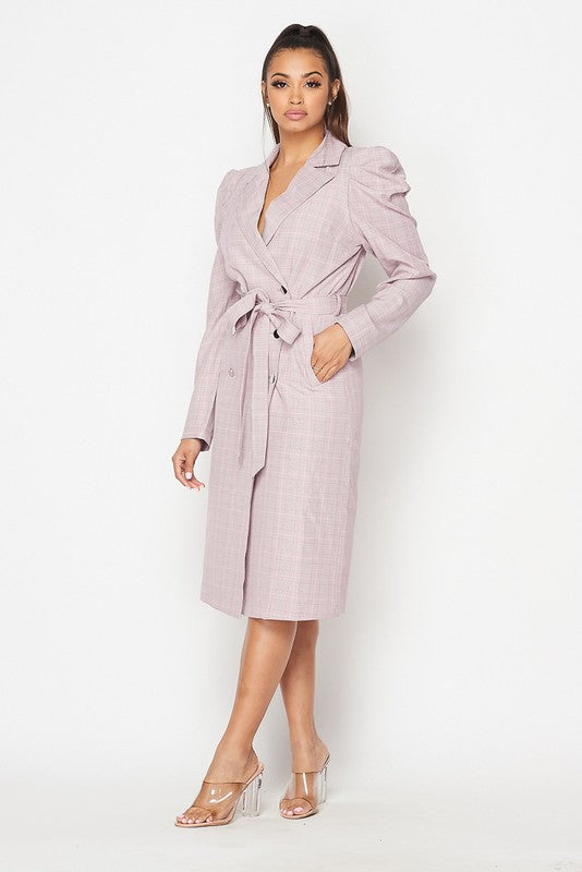 jenny Shoulder Coat dress (PINK)