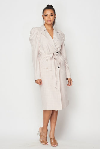 Jenny Shoulder Coat dress (BEIGE)