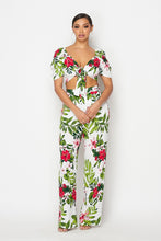 HOEA031 Floral  Pants  Set