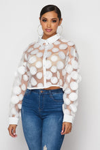 HOEA029 Circle detail mesh top