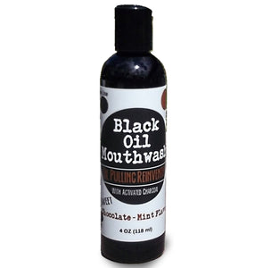 oil pulling with charcoal and xylitol - Sweet Chocolate Mint 4 oz