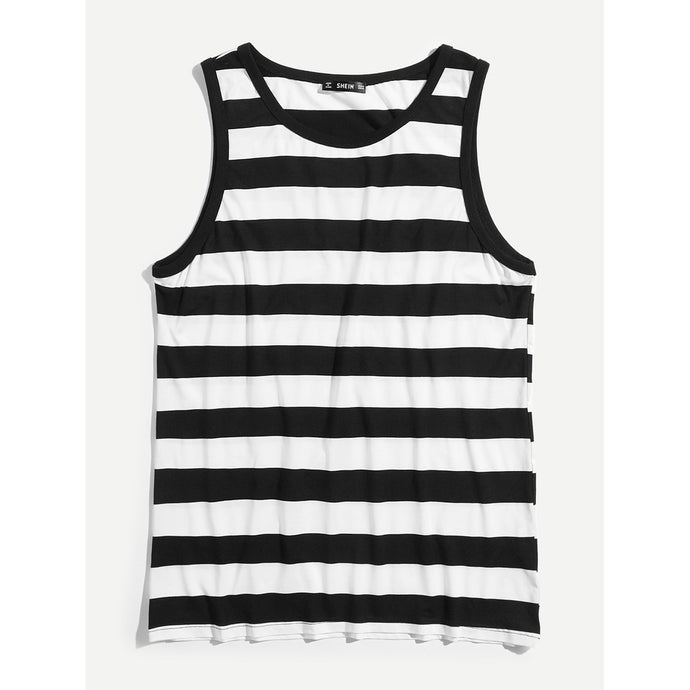 Men Striped Tank Top