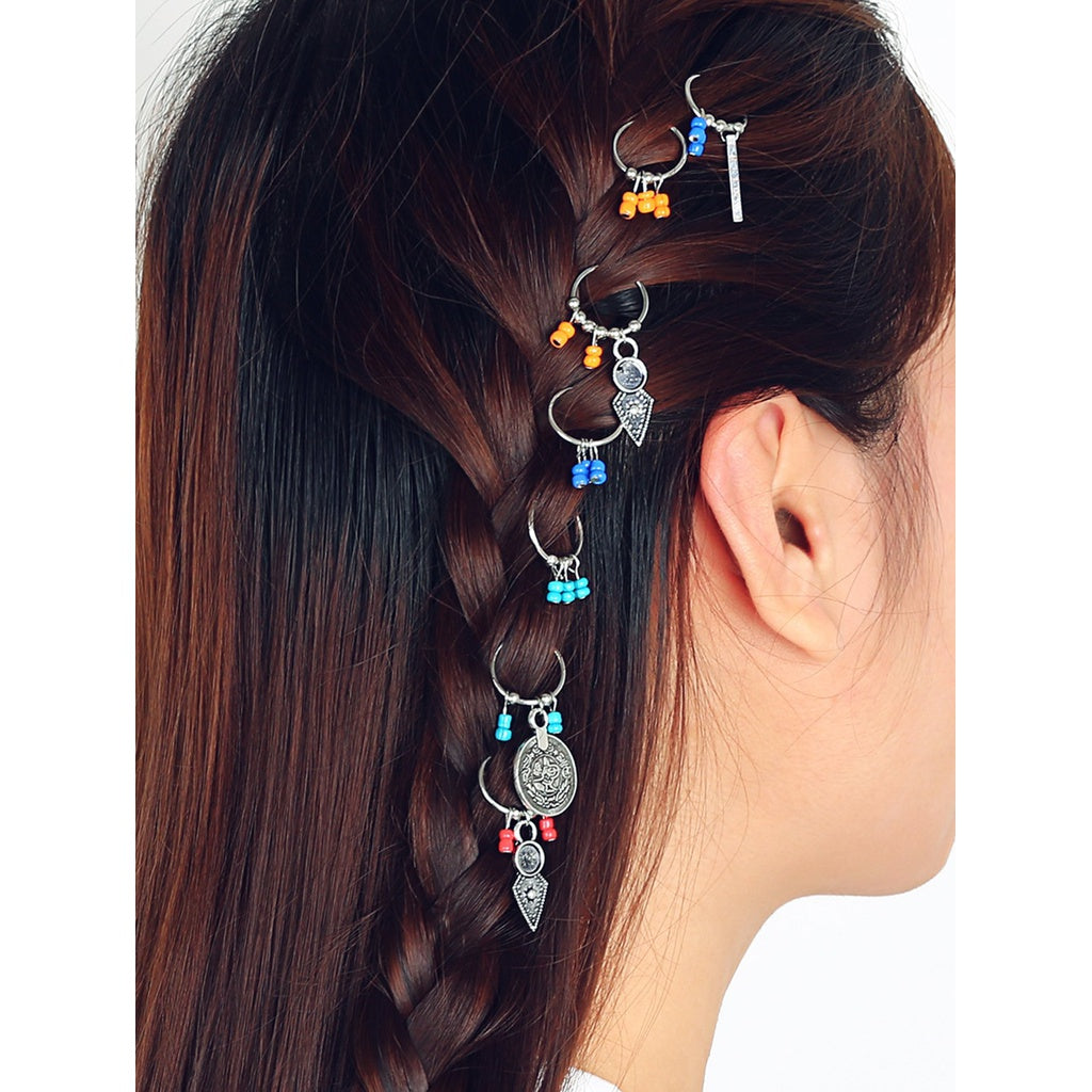 Beaded Hair Ring 7pcs