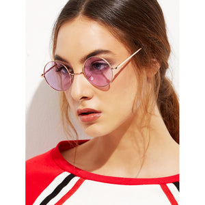Gold Metal Frame Round Glasses