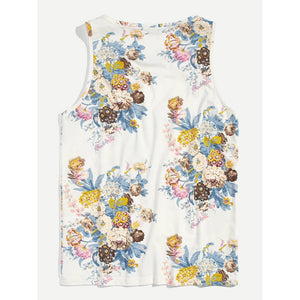 Men Flower Print Tank Top