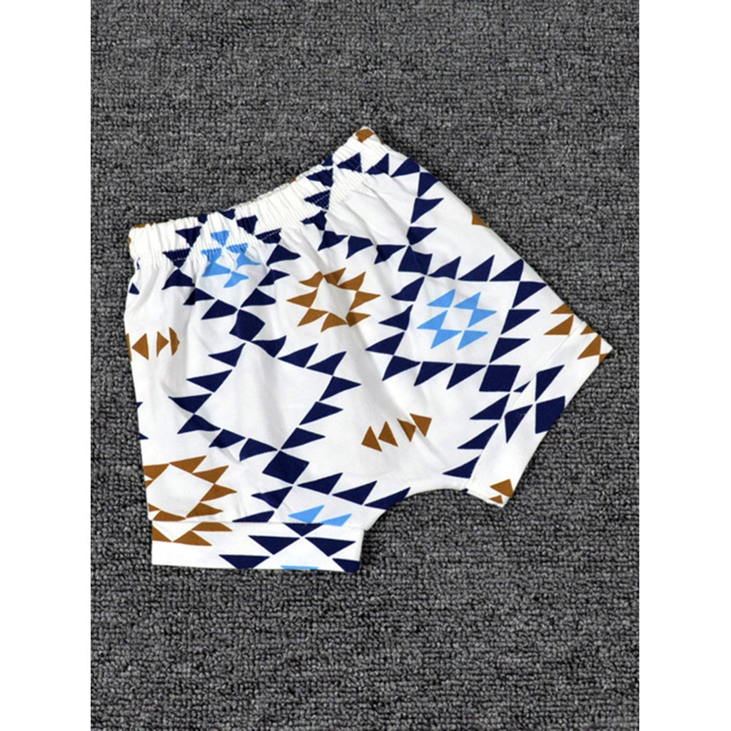 Boys Geometric Print Shorts