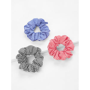 Striped Hair Scruchie 3pcs