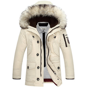 Fashionable Warm Winter Jacket with Hooded Fur