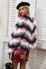 Colour Mix Warm Faux Fur Jacket