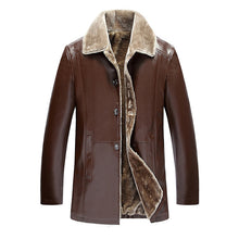 Big Size Warm PU Leather Jacket