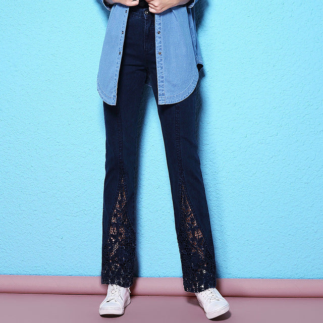 Classic Jeans with Water Soluble Lace