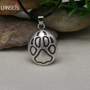 10pc Viking Wolf Paw Necklace